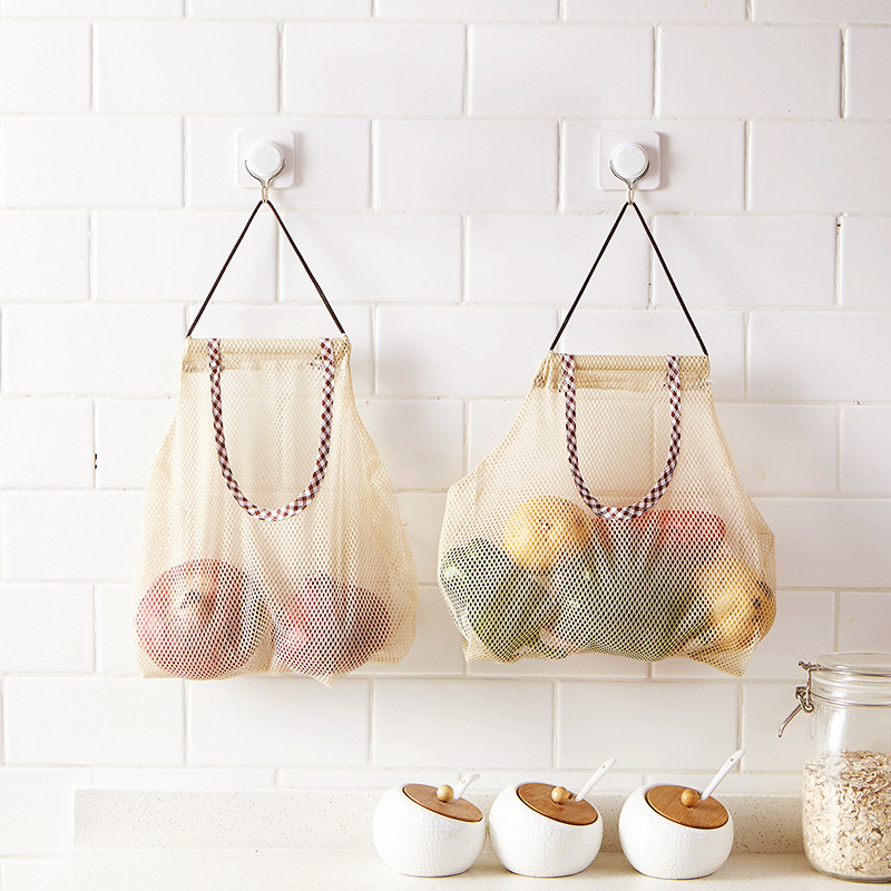 Reusable Shopping Bag Vegetable Fruit Stoage Bag Foldable Eco Grocery Bag Home Organization And Storage Tote Multifunctional Bag