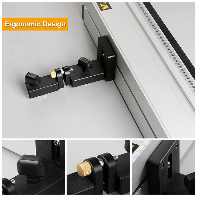 Aluminium Profile Fence with Scale and Sliding Brackets Tools for Woodworking DIY Workbench