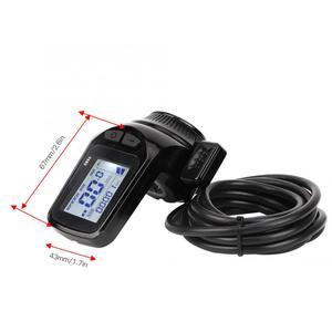 Image 5 - 24 V/36 V/48 V 350W فرش تحكم شاشة الكريستال السائل لوحة مع الإبهام خنق مجموعة ل الكهربائية دراجة E الدراجة سكوتر كهربائي