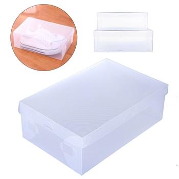 10PCS/Set Thickened Flip Shoes Transparent Drawer Case Plastic Shoe Boxes Stackable Box Storage Box Shoe Storage Organizer