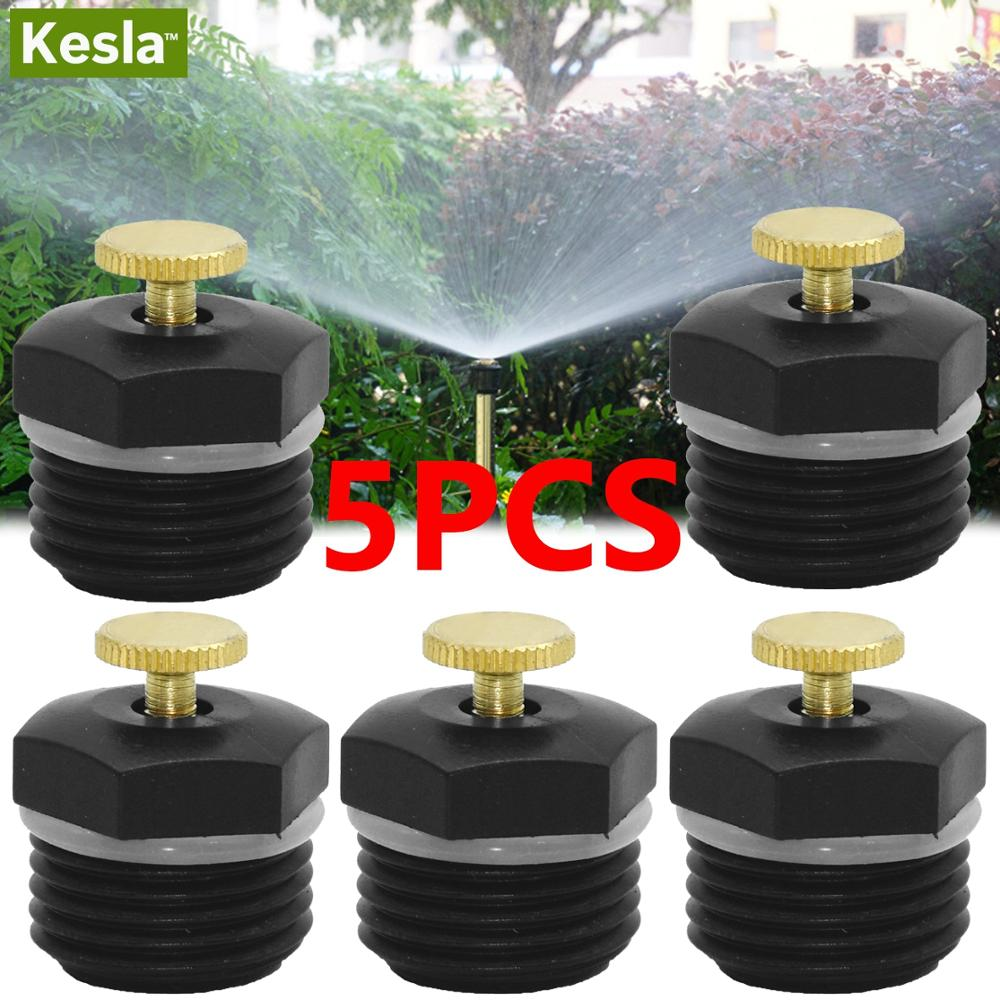 KESLA 5PCS Adjustable Watering Sprinkler Head Garden Lawn Irrigation System Spray Nozzle Grows Irrigation Kit Home Garden Tools