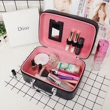 Cosmetic-Bags Organizer Travel-Handbags Elegant Beauticians Women PU Hot-Sale