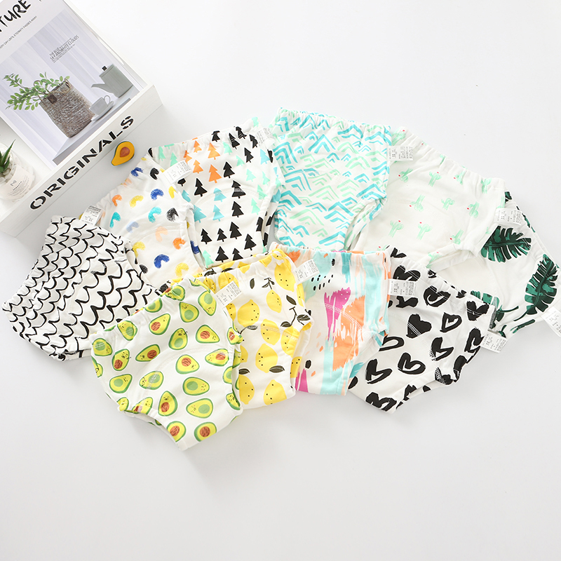 2 Pieces Baby Cotton Training Pants Underwear Waterproof Cloth Diapers Reusable Tools Diapers Diapers Baby Underwear Washable