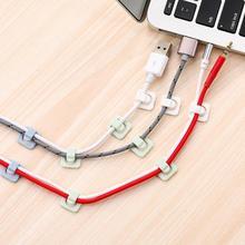 18 stücke Klebstoff DIY Kabel Clip Tisch Lagerung Draht Organizer Mini Hause Clamp Netzwerk Kabel Daten USB Tastatur Kabel Veranstalter