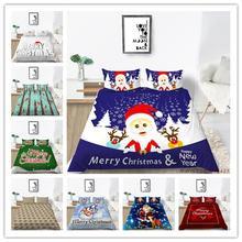 Модные 3d с рождественским принтом постельных принадлежностей