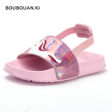Slides Kids Slippers for Boys Sandals Summer Girls Sandals Summer House Shoes for Girls Rainbow Unicorn Baby Boys Beach Shoes