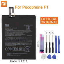 Xiao Mi Original Phone Battery BM4E for Xiaomi Pocophone Poco F1 3900mAh Replacement Batteries Free Tools