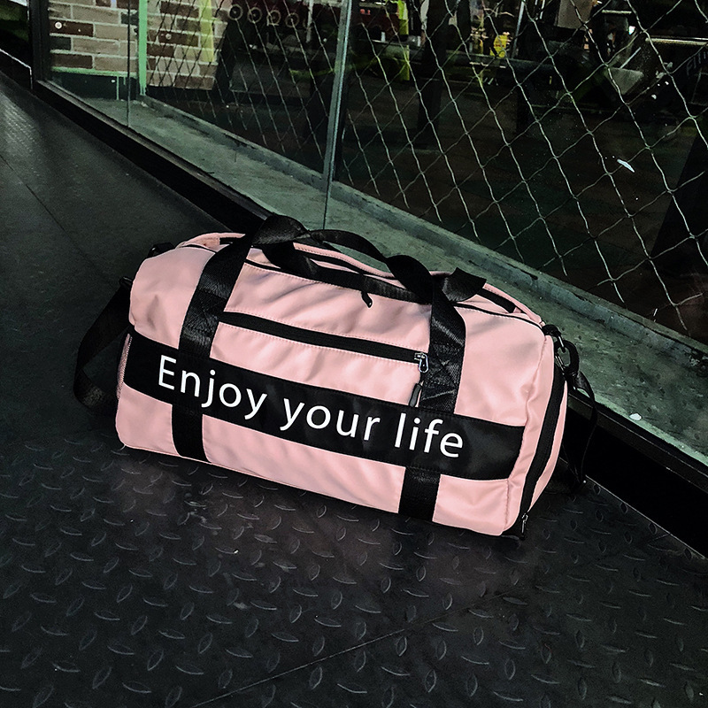 Fashion Sports Gym Bag Unisex Short-distance Travel Bag Handbag Shoulder Bag Luggage Bag Female Yoga Bag Holiday Gift