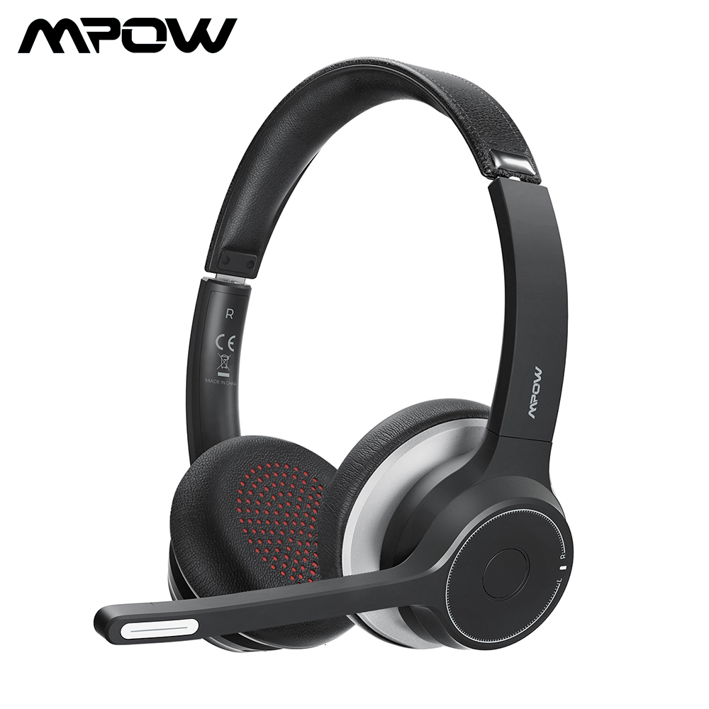 Upgarded Mpow HC5 Bluetooth Headsets Wireless Headphones With CVC8 0 Noise Cancelling Mic Mute 3 5mm Wired Headphone For Phone