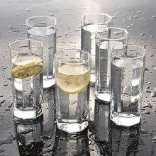 Утолщенная восьмиугольная стеклянная домашняя чашка для молока, сока, чашка для напитков, термостойкая чашка, стеклянная чашка, стакан для виски, изолированный бокал для вина