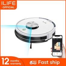 Ilife l100 robô aspirador de pó, lds navegação a laser, mop telefone celular inteligente wifi app controle remoto, aplicação da ferramenta do agregado familiar