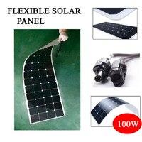 Hot Sale 100w 200w flexible solar panel 18V for 12V solar battery charger monocrystalline solar cell panel solar home system kit