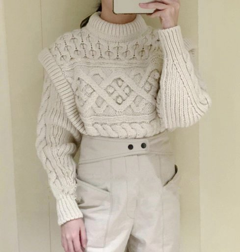 Solid Color Women's Knitted Sweater O-neck Twist Weave Fake Two Wool  Autumn And Winter New CuteKnitwear Pullovers