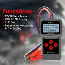 MICRO-200 PRO-probador de batería de coche, Analizador de sistema de batería de carga automotriz AGM EFB Gel Digital multilingüe, 12v y 24v