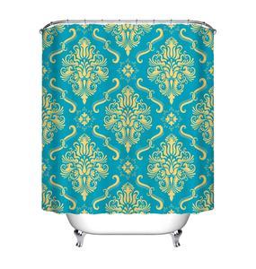 Image 4 - LB Black Damask Baroque Shower Curtain Bathroom Luxury Vintage Art Abstract Flower Waterproof Polyester Fabric For Bathtub Decor