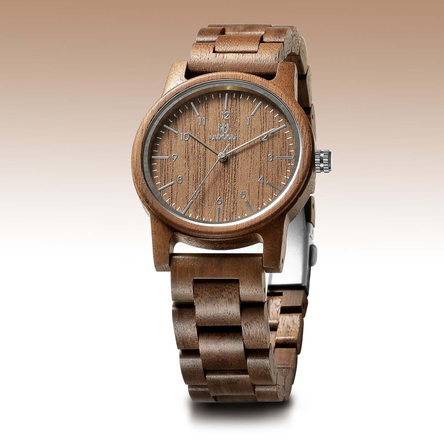 Uwood Natural Wood Watch for Men Vintage Mens Wooden Watch Gifts for Male