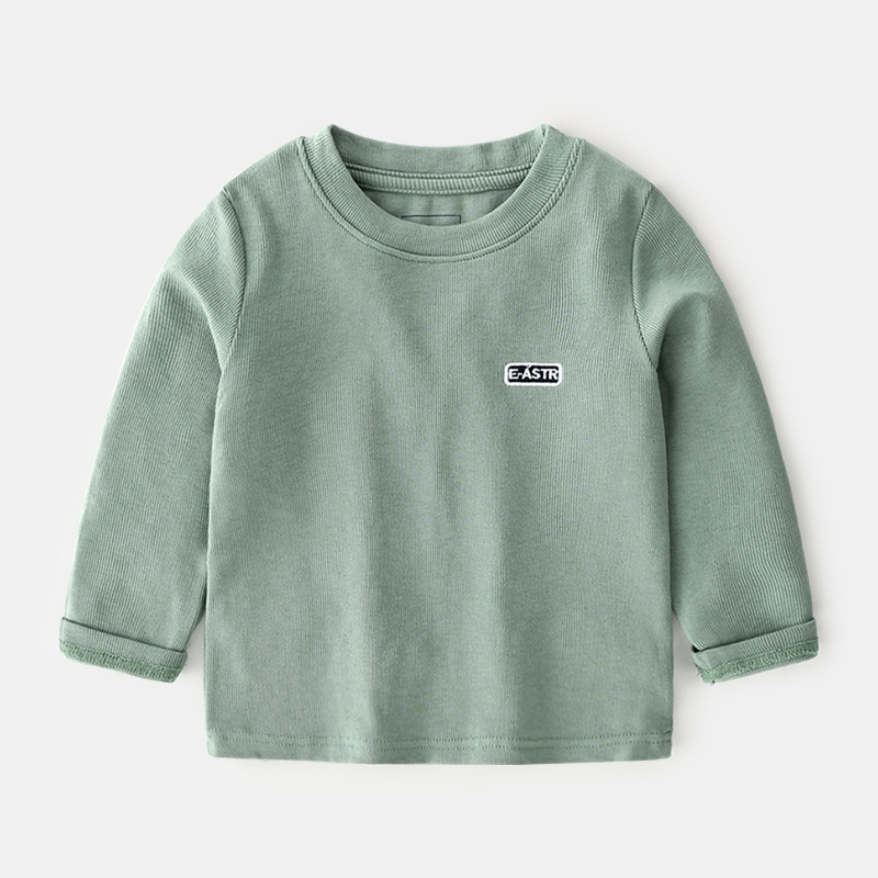 Katoofely2019 Autumn New Style Childrenswear BOY'S Children Boutique Solid Color T-shirt BABY'S Top