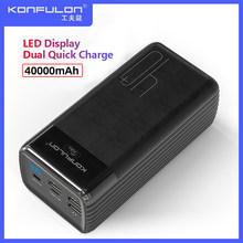 Two Way Quick Charge Power Bank LED Type C Input/Output Powerbank 40000 mah15W PD External Battery Charger For iPhone Xiaomi