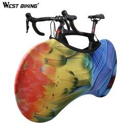 West biking universal bicicleta capa de roda de bicicleta anti-poeira garage chains proteger capa saco de armazenamento acessórios de bicicleta portátil