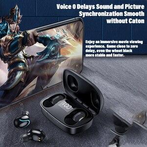 TWS беспроводные Bluetooth мини-наушники водонепроницаемые стерео спортивные наушники-вкладыши с шумоподавлением наушники-вкладыши с микрофоном