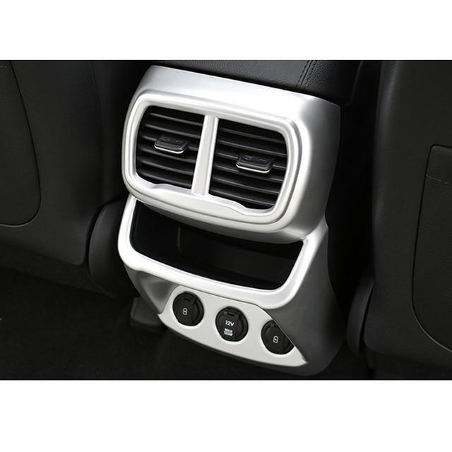 For Hyundai Santa Fe 2019 2020 Car Rear A/C Air Outlet Vent Cover Frame Sticker Car Molding Accessory 5