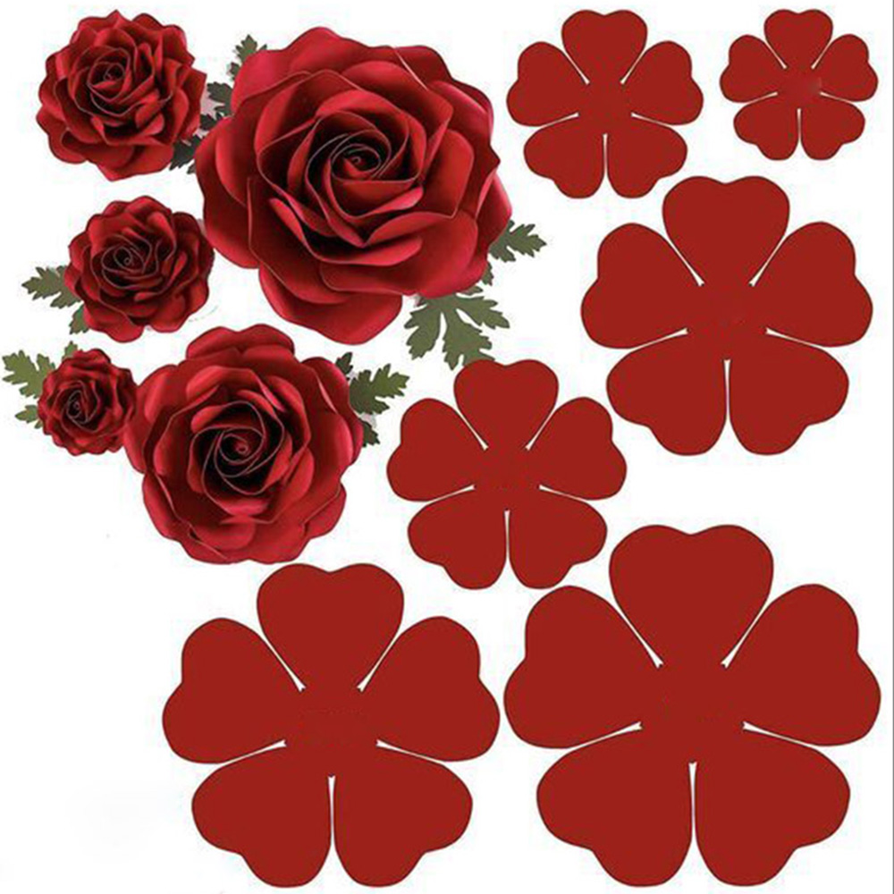 6/pcs New Dies 3D Rose flower Cutting Dies Stencils Scrapbooking Embossing DIY Crafts Paper Cards Album Decor Metal Dies Cut