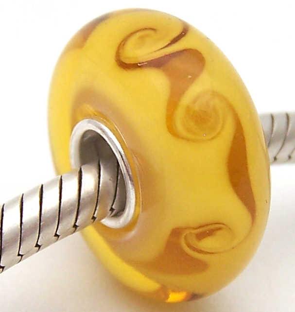 PJG1158 100% S925 Sterling Silver Perle di Murano perle di Vetro Europeo Adatto Pendenti e Ciondoli Braccialetto Pendenti e Ciondoli fai da te dei monili di Lampwork GlassBeads