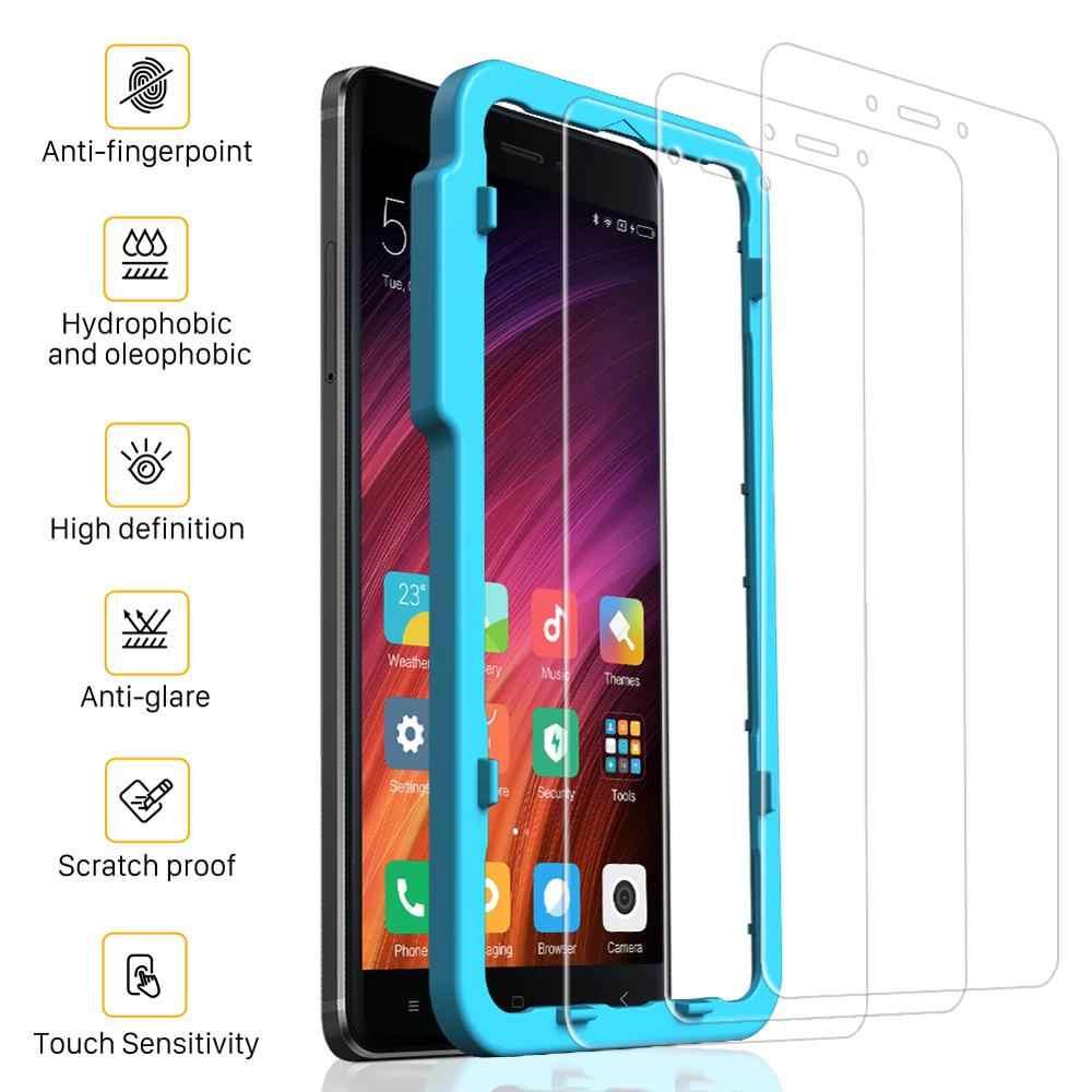 Smartdevil Kaca Tempered untuk Xiao Mi Merah MI CATATAN 4X Pelindung Layar untuk Xiao Mi Mi Catatan 4X Versi Global cahaya Biru