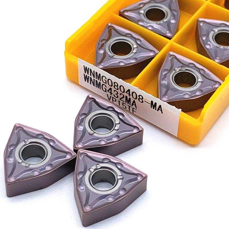 10PCS WNMG080408 MA VP15TF/US735/UE6020 External Turning Tools Carbide Insert Lathe Cutter Tool Tokarnyy Turning Insert