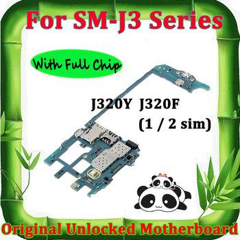 Do Samsung Galaxy J3 J320Y J320F oryginalna odblokowana płyta główna Android czysta płyta główna z pełnymi chipami odblokuj główną płytę logiczną tanie i dobre opinie LISFG For Samsung J3 J320Y J320F Wewnętrzny 100 Original used and good working Full QC Testing Whole Completed Motherboard