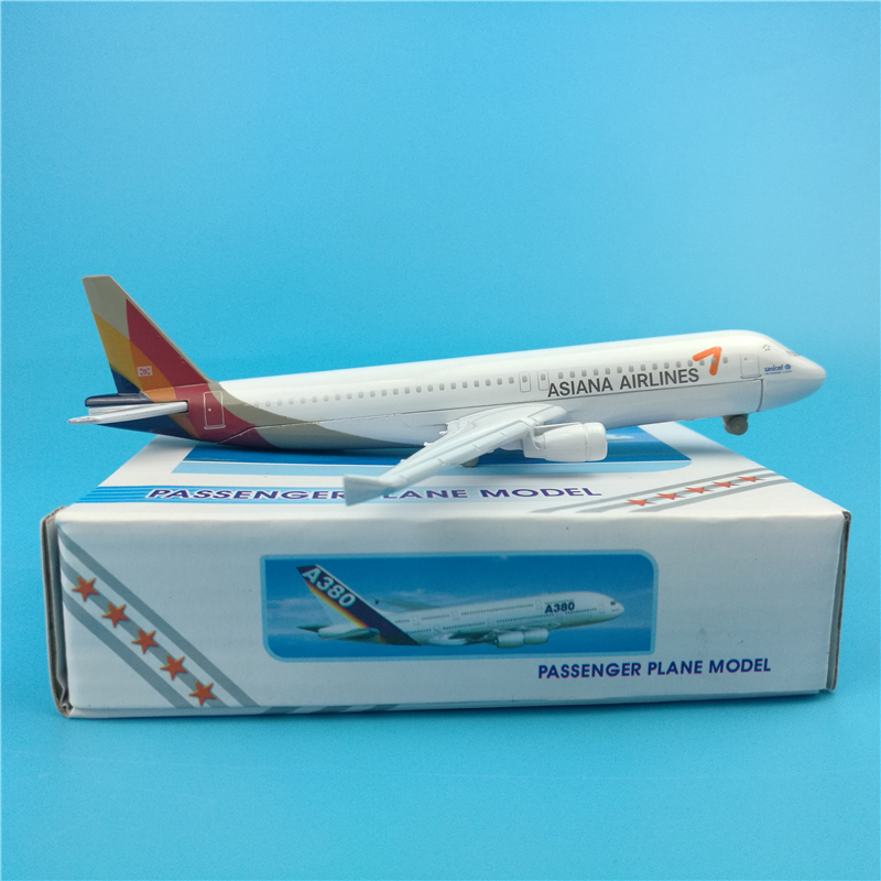 16CM 1:400 Landing Gear Aircraft Airbus A320-200 Model Korean Asiana Airways Airlines W Base Alloy Airplane Collectible Plane