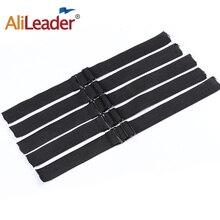 Alileader Горячая Регулируемая черная резинка для волос сетки делая парик кепки s шапочка под парик Чистая шитье высокая эластичная лента s
