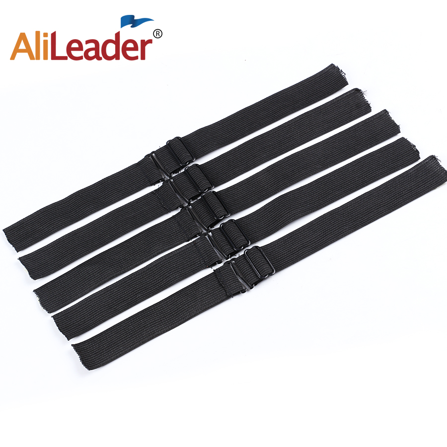 Alileader Hot Selling Adjustable Black Elastic Band For Hair Nets Making Wig Caps Lace Wig Cap Net Sewing Highest Elastic Bands