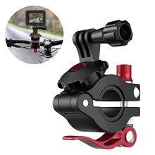 Металлический держатель для камеры на мотоцикл, кронштейн для крепления на шоссейный велосипед, регулируемый велосипедный зажим для GoPro Osmo, аксессуары для спортивной экшн камеры s