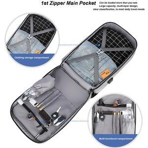 Image 4 - Cartinoe USB Charging 17.3/15.6 Inch Laptop Bag For Macbook Air/Pro Anti Theft Laptop Backpack Men Travel Bag Male Mochila Bag