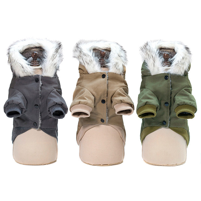 Hooded Pet Dog Clothes Autumn Winter Soft Warm Coat Pet Hoodie Supplies TUE88 5