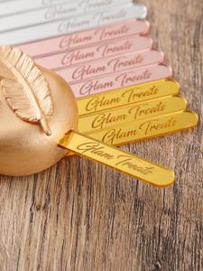 Ice-Cream-Sticks Baby Shower Names Custom Birthday Acrylic Cakesicle Personalized 50pcs