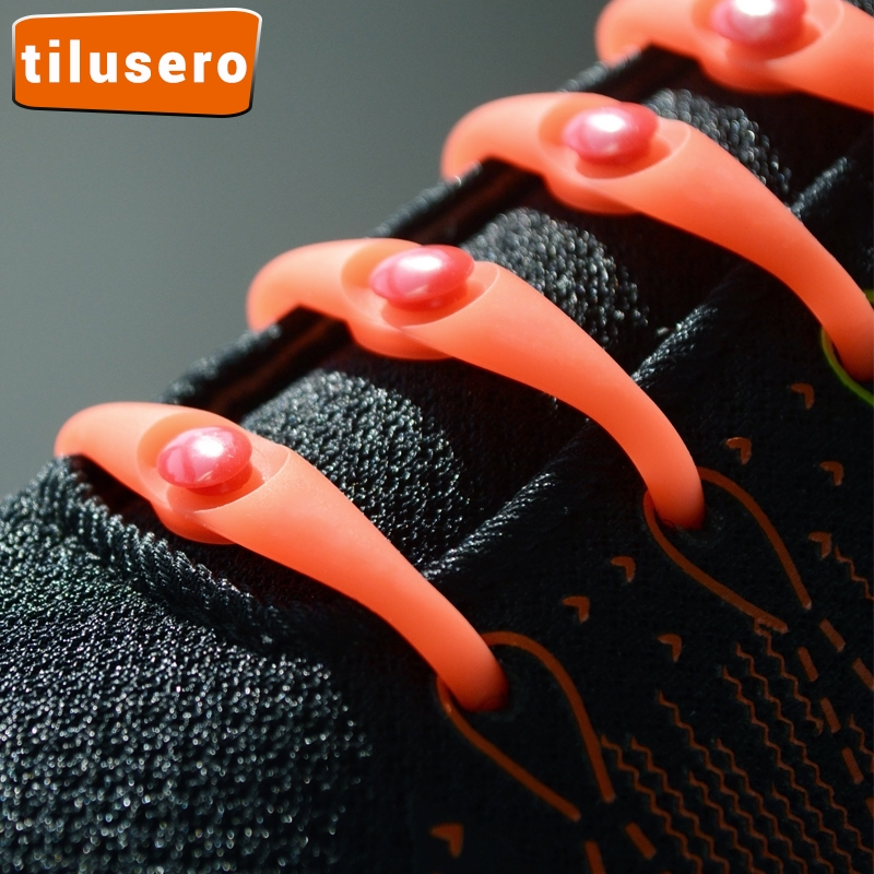 12pcs/lot Elastic Shoelaces Silicone Shoelace No Tie Shoe Laces For Men Women Lacing Shoes Rubber Shoelace Z004