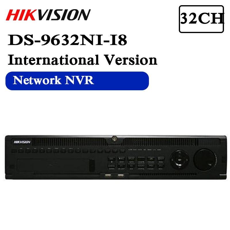 DS-9632NI-I8 version anglaise H.265 NVR 32CH prise en charge jusqu'à 12MP caméra, 8SATA pour 8HDDs HMDI1 jusqu'à 4K NVR RAID