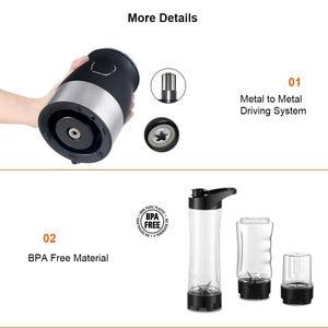 Image 4 - BPA FREE 500W Portable Personal Blender Mixer Food Processor With Chopper Bowl 600ml Juicer Bottle Meat Grinder Baby Food Maker