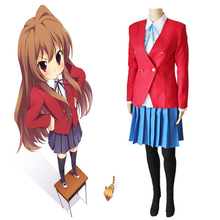 Anime Toradora Cosplay Costumes Taiga Aisaka Costume School Uniforms Halloween Party Women