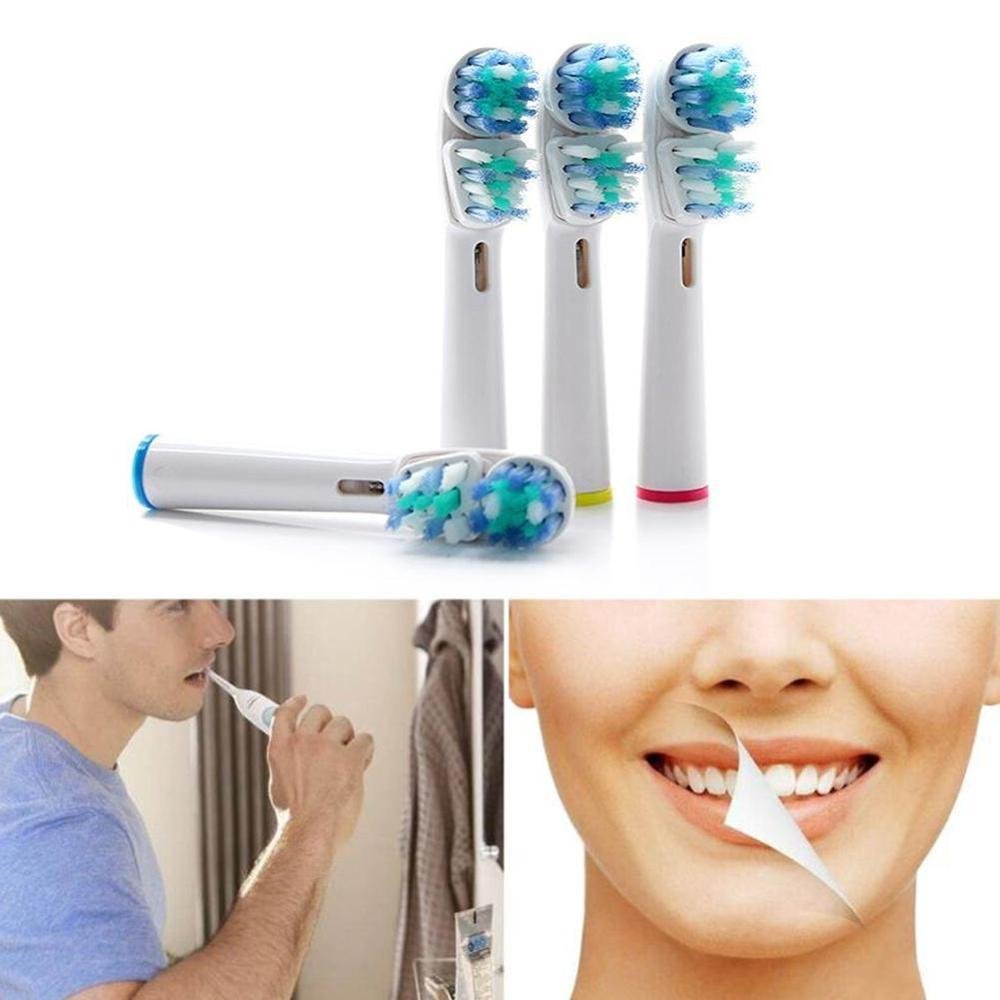 4pc Packed Replacement Toothbruh Head SB-417A Compatible With Vitality Pro500, 1000, 3000, 5000 For Oral-B Dual Clean Head image