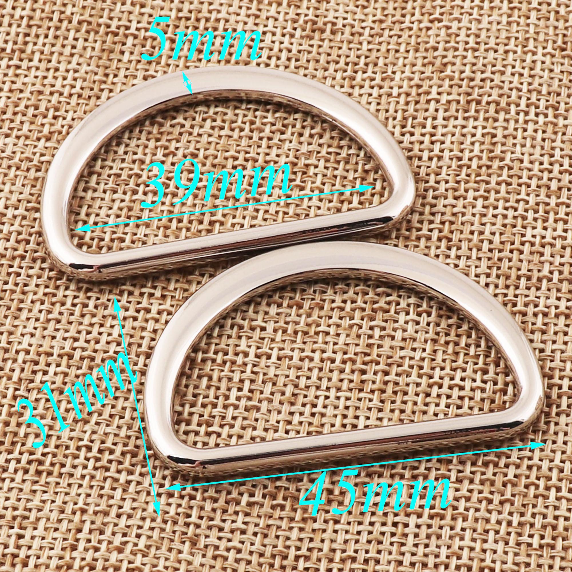 10 PCS Silver D Ring Buckles,D Rings d ring belt,Webbing Purse Bag Handbag purse Hardware,metal d-ring Purse Ring-27mm 42