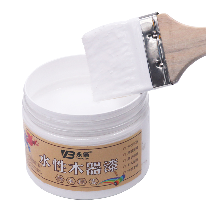White Woodwork Paint Waterproof Mildew-proof Water-Based Lacquer,for Wooden Furniture Cloth Fabric Paper 250g Craft Paints