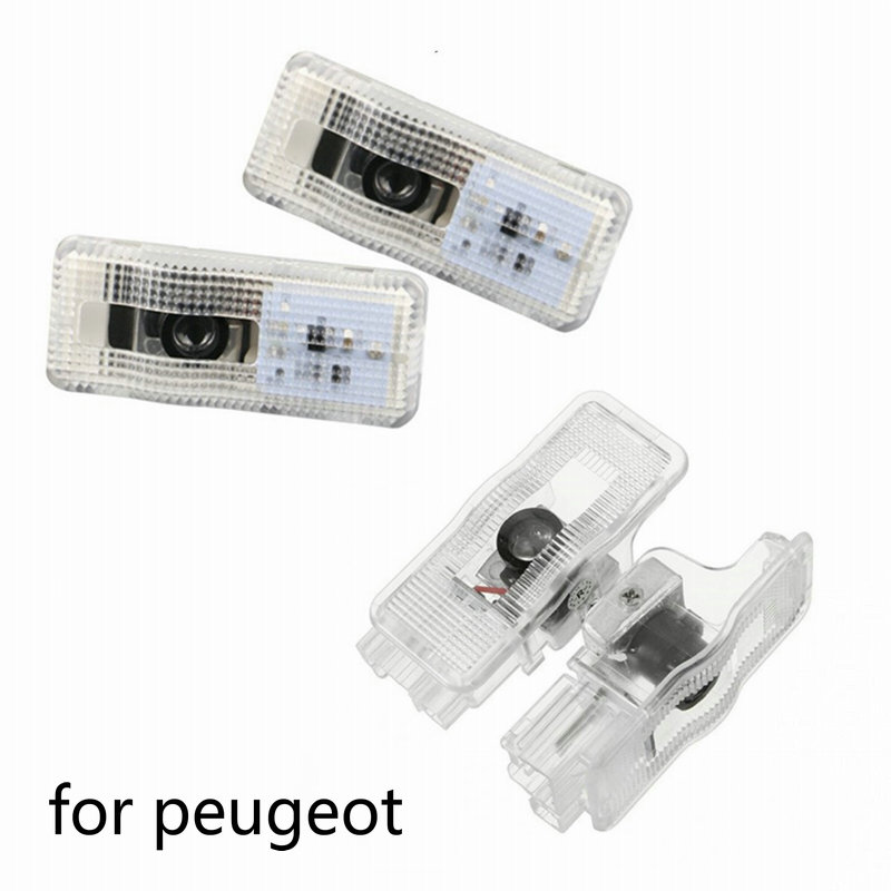 2pcs Car Door LED Welcome Light Logo Laser Decoration Ghost Shadow Projector Light for Peugeot 3008 407 408 508 RCZ 1007