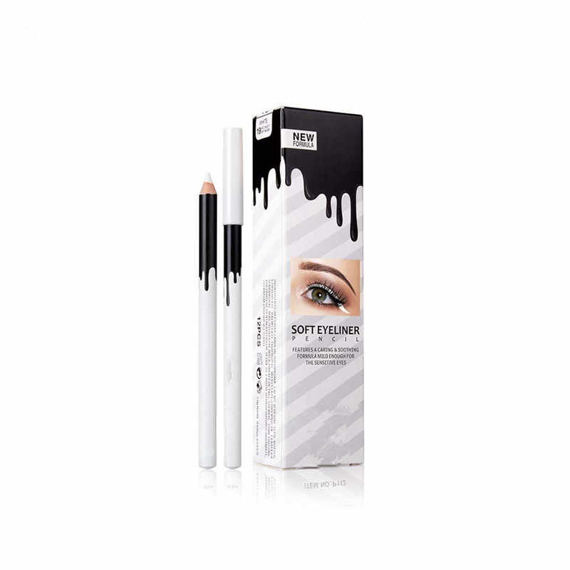 New arrival e yel iner Pencil e ye Contour Highlighter Pen White e ye l iner Tint Waterproof e ye Makeup Cosmetics