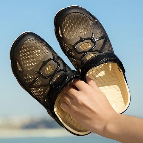 2019 New Men Sandals Summer Flip Flops Slippers Men Outdoor Beach Casual Shoes Cheap Male Sandals Water Shoes Sandalia Masculina Multan