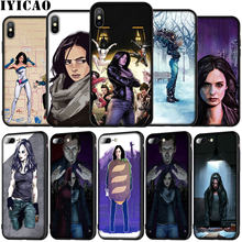 Jessica Jones IYICAO Marvel Comics Silicone Suave Phone Case para iPhone 5 XR X XS Max 5S SE 6 6S 7 8 Plus TPU Preto Tampa(China)