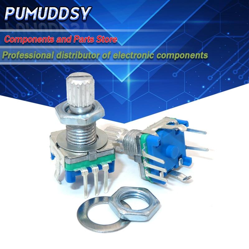 5 pièces prune poignée 15mm codeur rotatif commutateur de codage/EC11/potentiomètre numérique avec interrupteur 5 broches