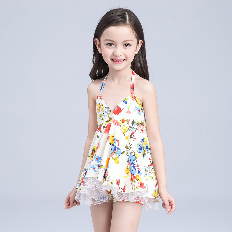 New Style KID'S Swimwear Girls Korean-style Split Skirt-Big Boy Tour Bathing Suit Princess Students South Korea GIRL'S Swimwear